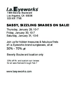 Sunglass Sale 2009 back_emailer