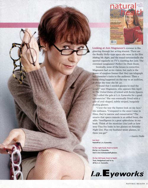 Ann Magnuson wears l.a.Eyeworks