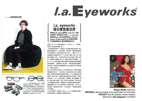l.a.Eyeworks in GQ Taiwan